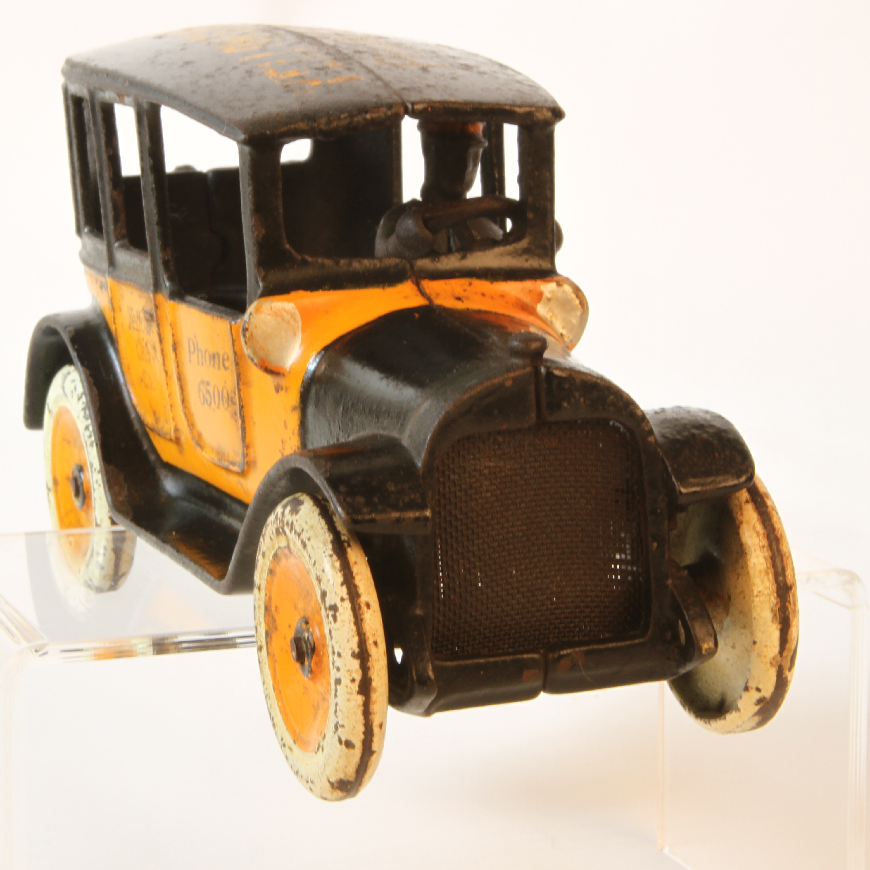X sold arcade cast iron taxi custom order antique toys for sale - Order a cab ...
