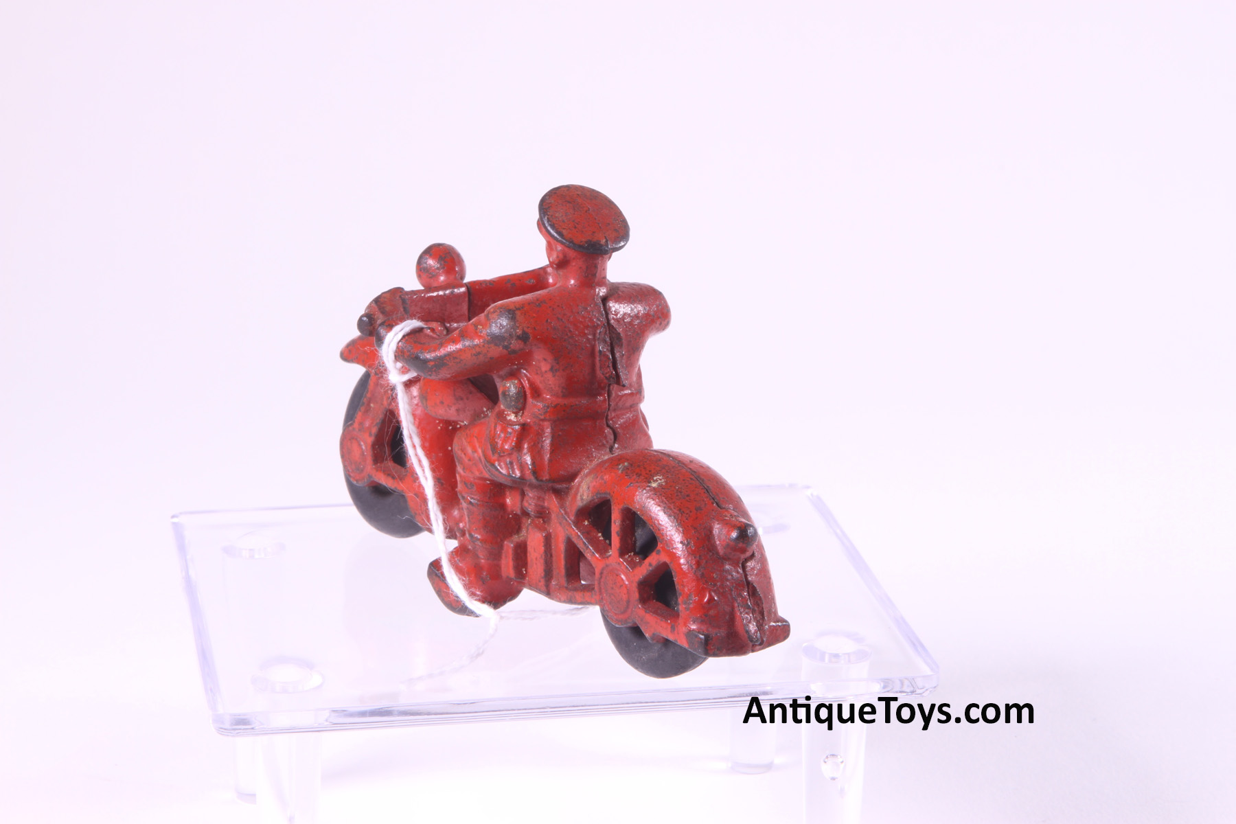 x-SOLD-Hubley Cast Iron Trooper Motorcycle - Antique Toys for Sale