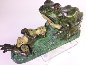 "Cast Iron ""Frog"" mechanical bank in cast iron"
