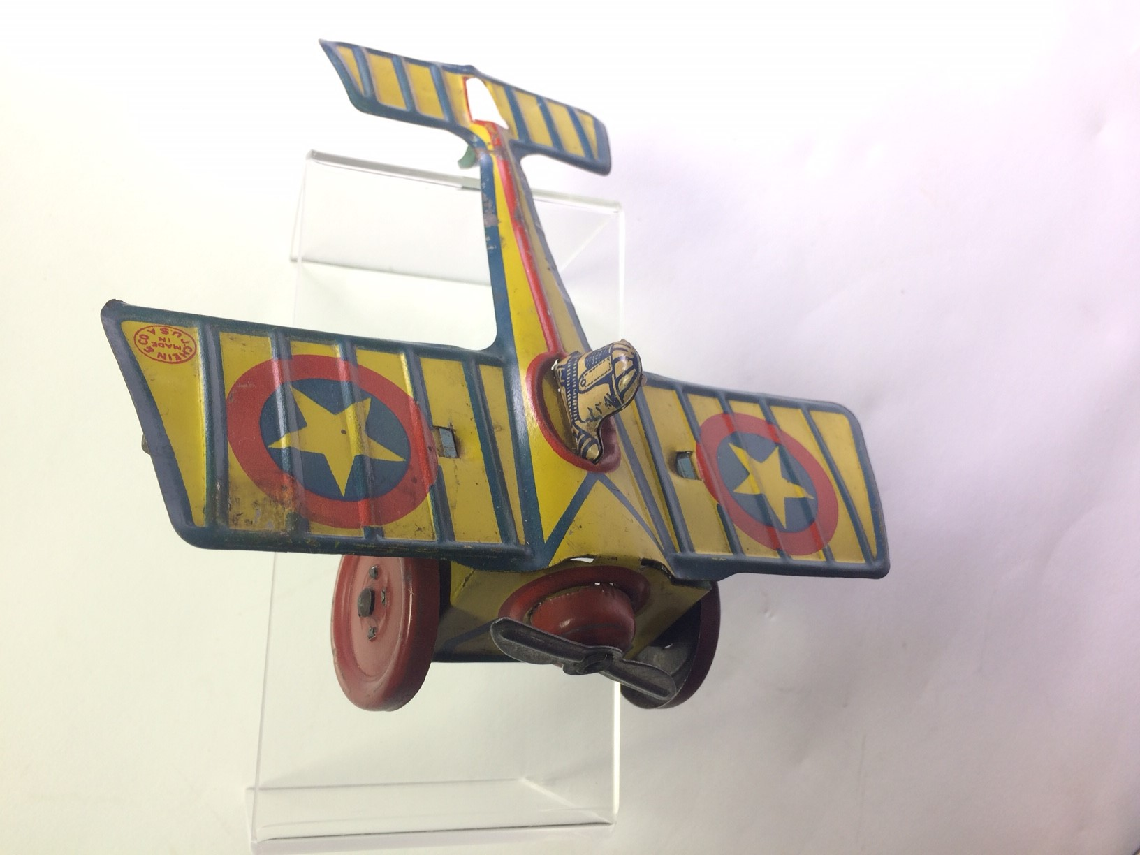Sold Chein 1920 S Windup Tin Airplane Antique Toys For Sale