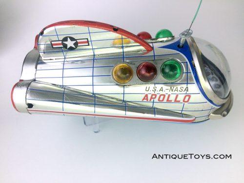 Beautiful new old stock USA Apollo Tin Spaceship, MT