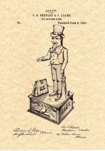Uncle Sam Cast Iron Bank. J.E. Stevens