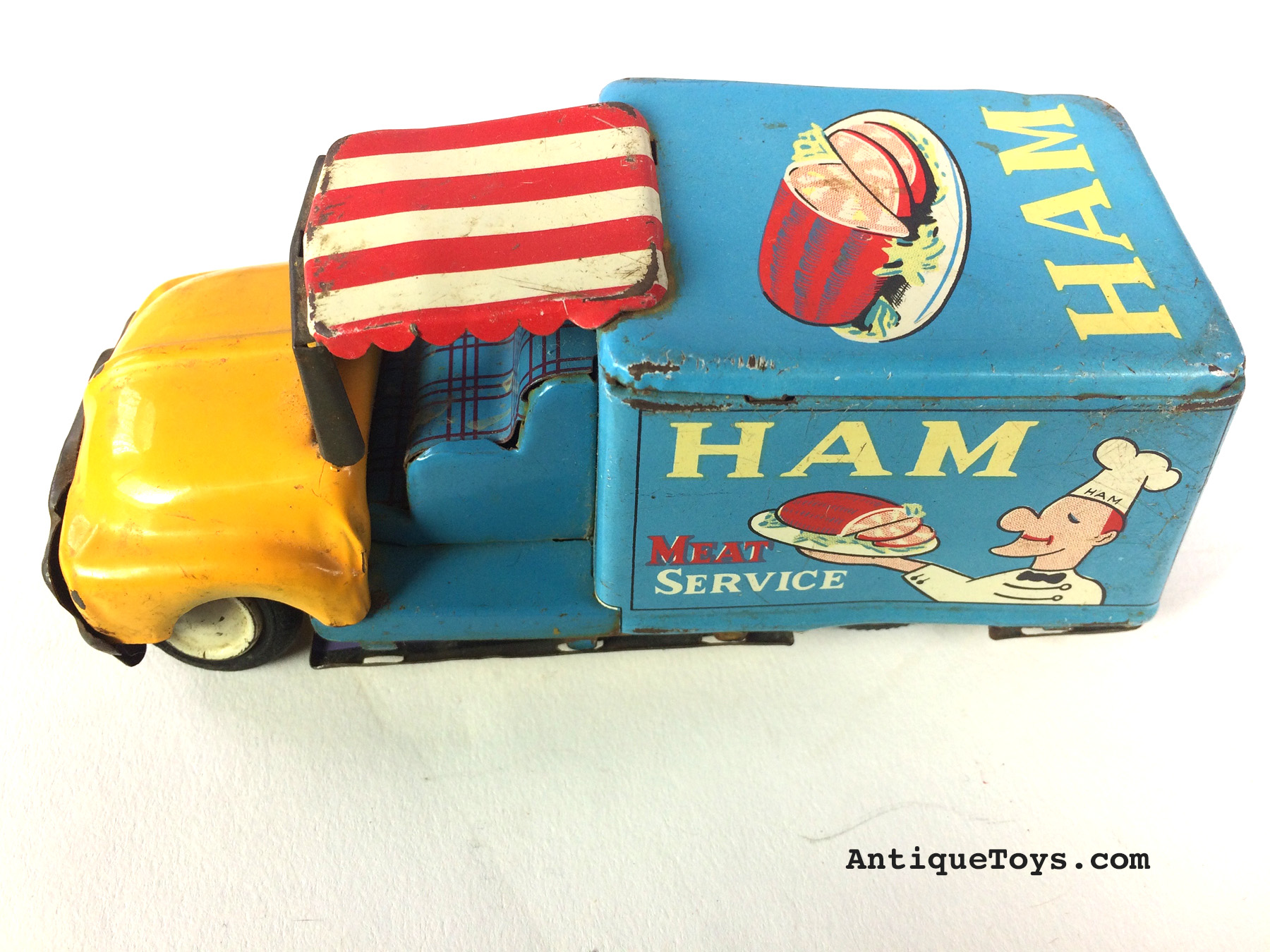 Ham Meat service Made in Japan tin truck