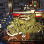 Hubley Harley Davidson Cast Iron. Swivel Head motorcycle by Hubley Cast Iron Works.
