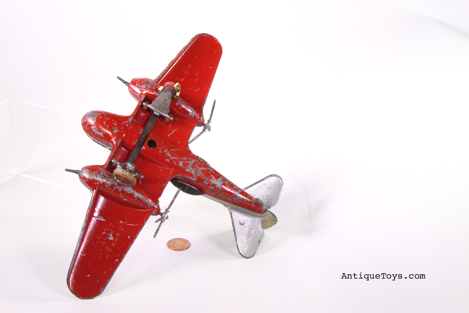 Hubley Bell Aircuda Xfm 1 Airplane Sold Antique Toys
