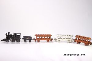 Dent Cast Iron train for sale. Note its difficult to find colors of orange and white.