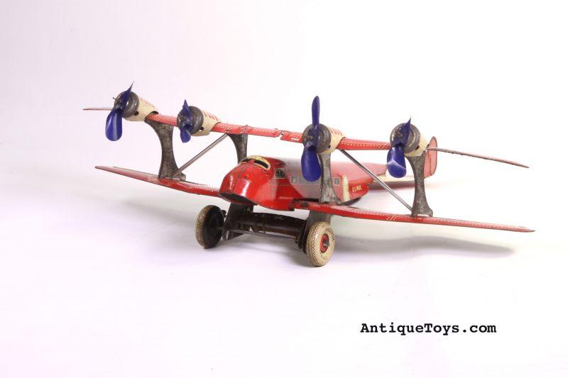 Marx Tin biplane toy
