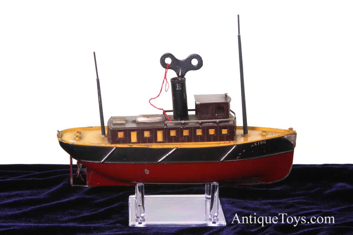 Ives Tugboat King Tin Windup For Sale Antique Toy Boat