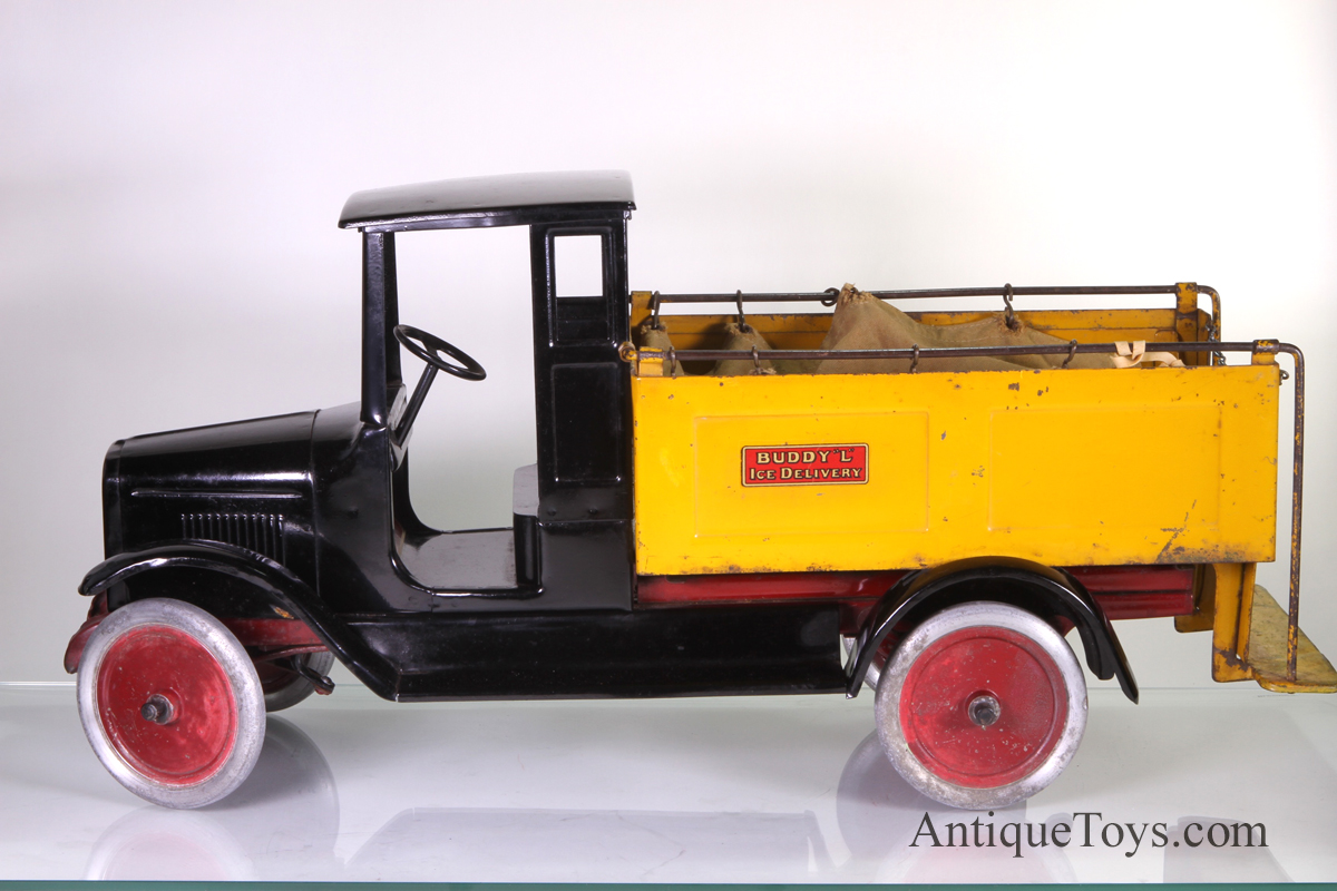 Buddy L Ice Truck Pressed Steel Toy Sold Antique Toys For Sale