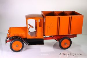 Rare Orange SturdiToy Coal Truck- Almost an Antique Truck Toy