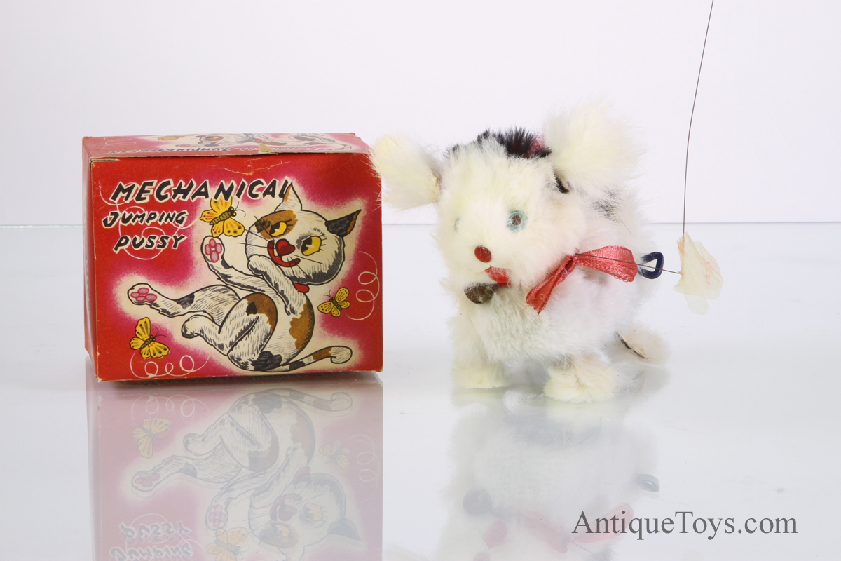 Mechanical Jumping Pussy Cat Windup Toy for Sale