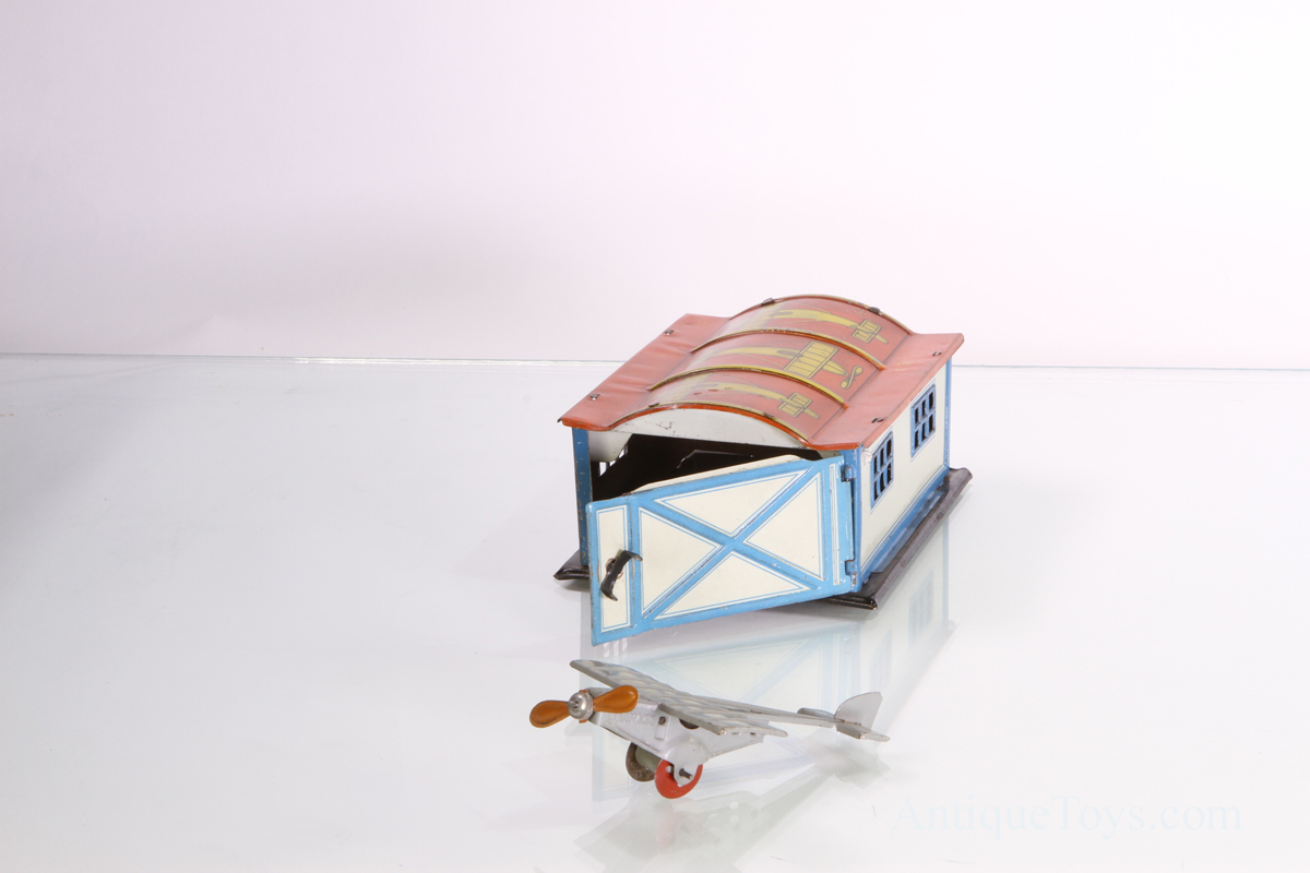 Airplane Penny Toy With Hanger Tin Antique Toys For Sale
