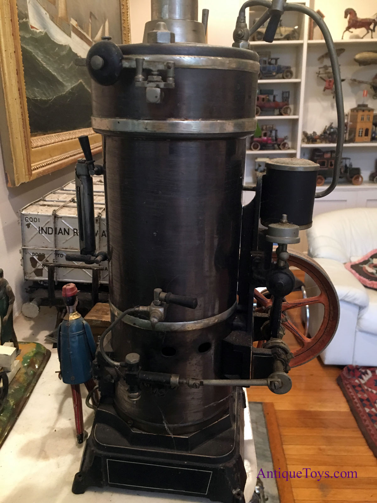 Wood Stoves For Sale >> Bing, G.B.N., Steam Engine- Extra Large - Antique Toys for ...