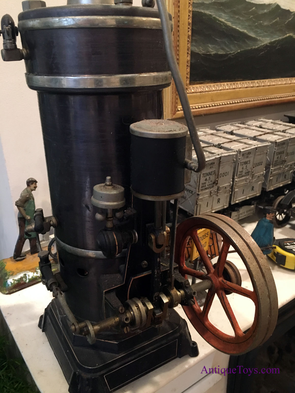 Bing G B N Steam Engine Extra Large For Sale Antique
