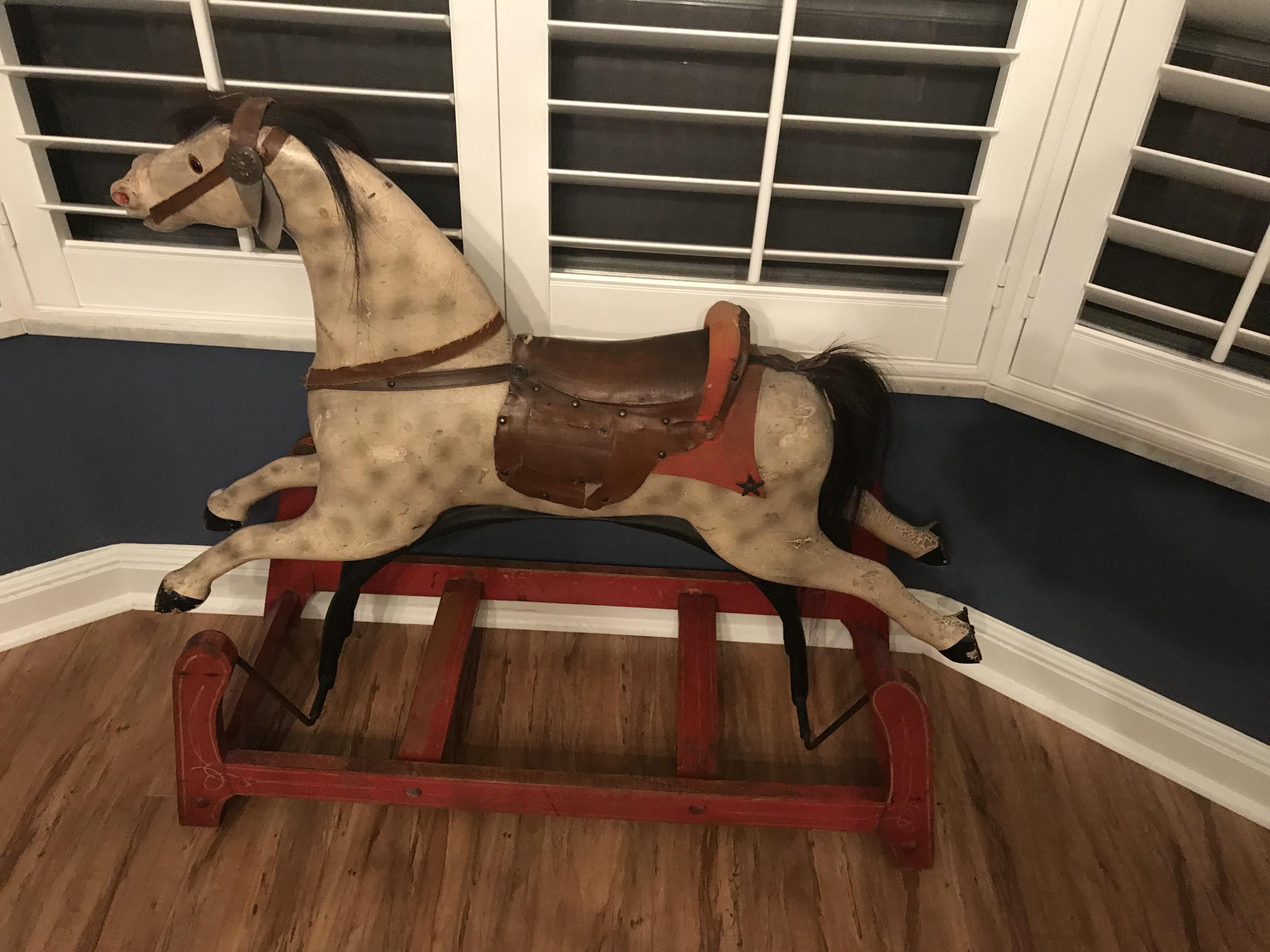 Antique Rocking Horse For Sale Converse Sold Antique