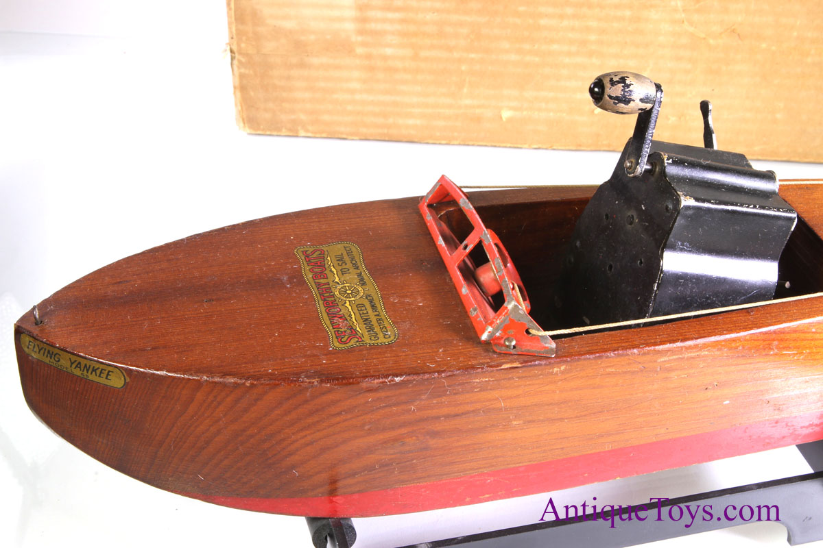 Flying Yankee Mahogany Wood Boat toy- Seaworthy *sold*