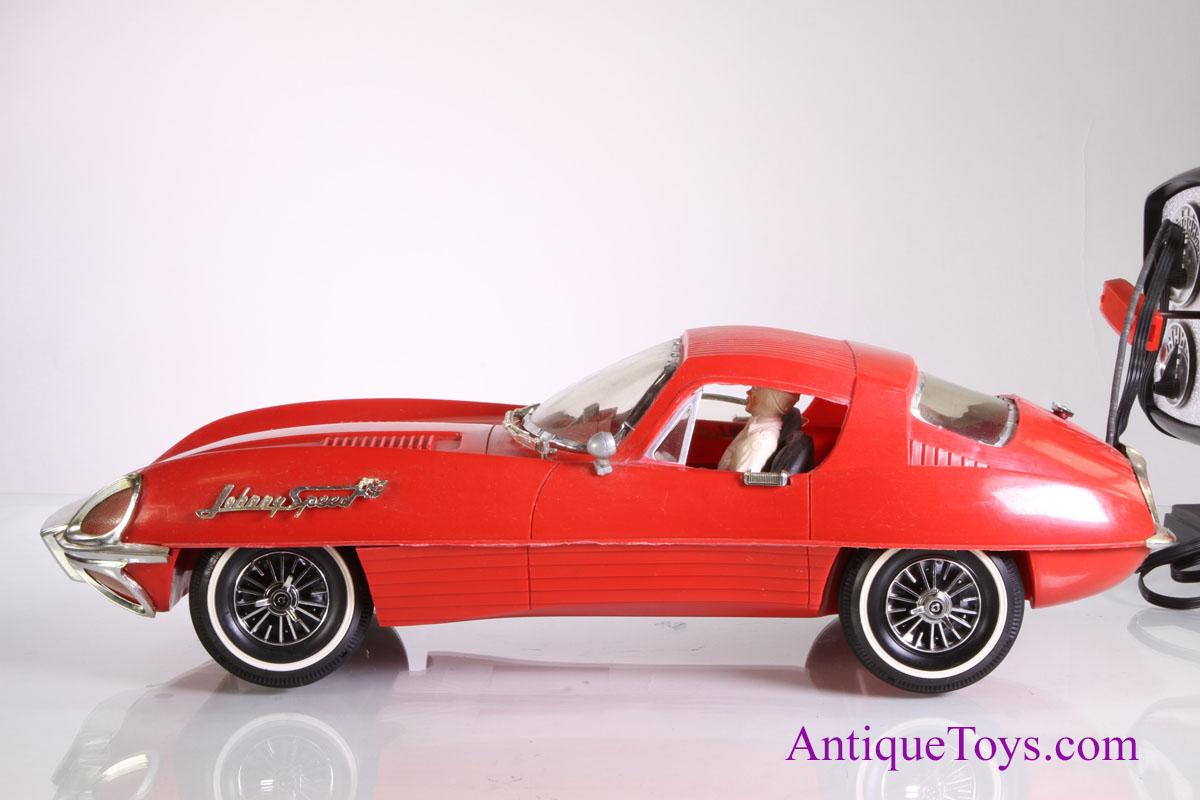 johnny speed jaguar remote control car topper sold antique toys for sale. Black Bedroom Furniture Sets. Home Design Ideas