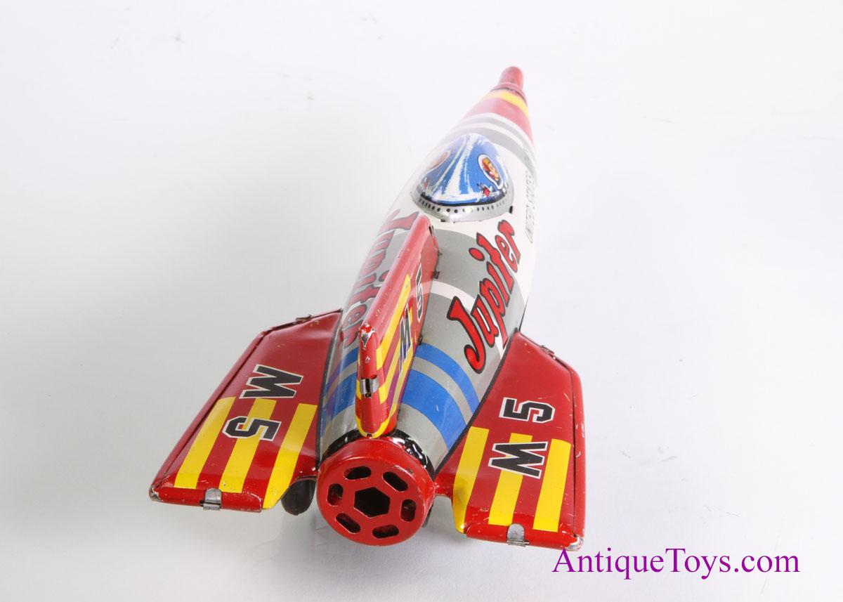 M M Toys Sale : Jupiter army tin rocket m for sale sold antique toys