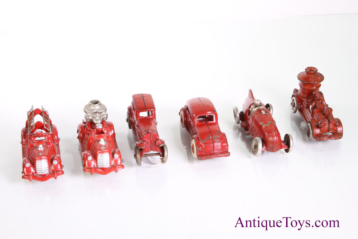 Red Cast Iron Toy Trucks And Cars For Sale Sold