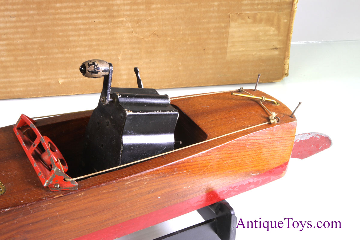 Flying Yankee Mahogany Wood Boat Toy Seaworthy Antique