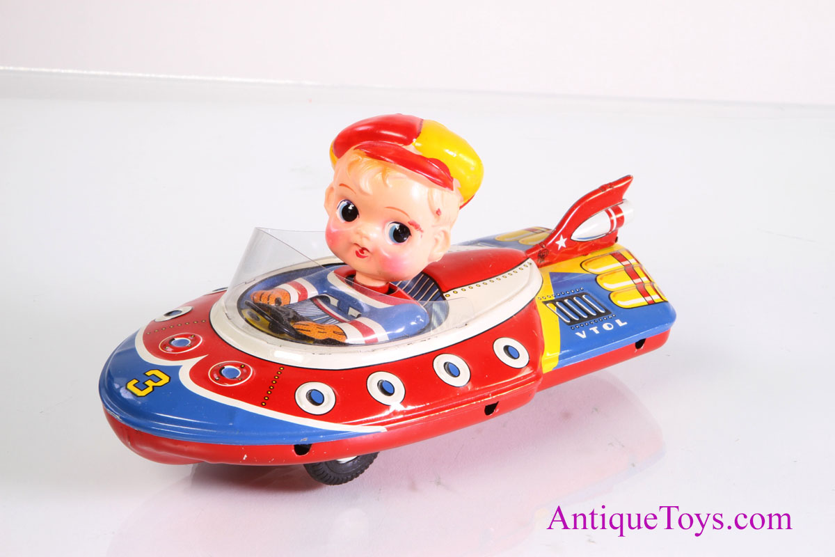 Atc Space Traveller Vtol Space Ship Toy Sold Antique