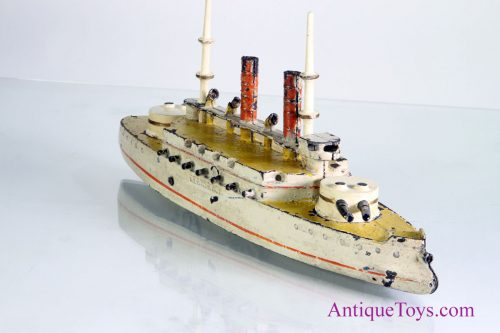 Wilkins Kearsarge Battleship Cast Iron Antique Toys For Sale - Cruise ship toys for sale