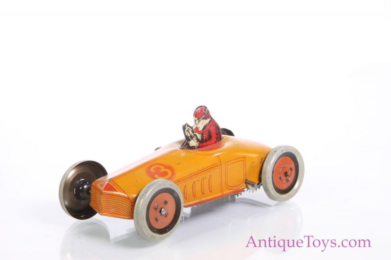 Chein Race Car No 3 Tin Windup Antique Toys For Sale
