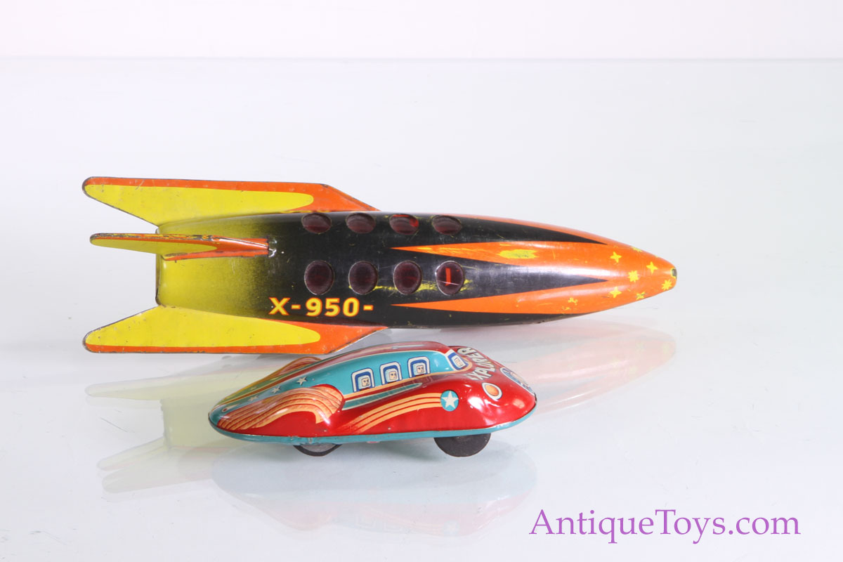 X 950 Rocket And Explorer Tin Japanese Car For Sale
