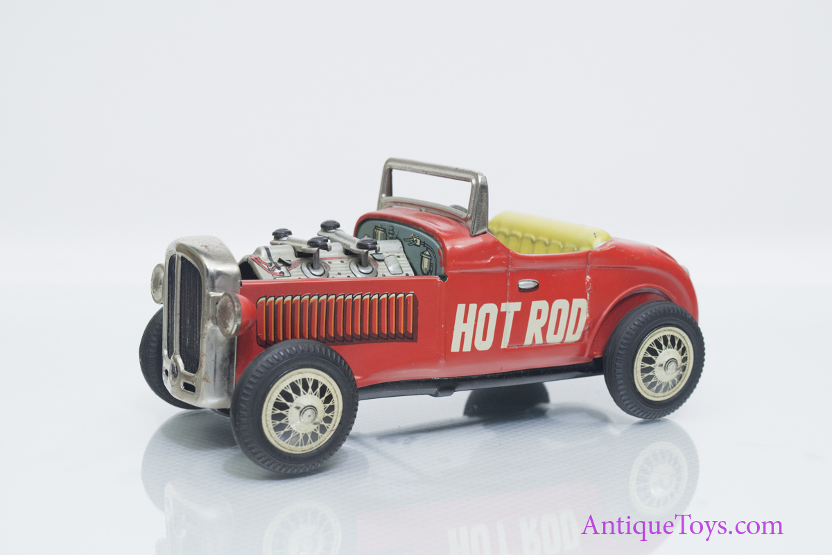 Hot Rod Friction Tin Car Piston Action By Nomura  Sold