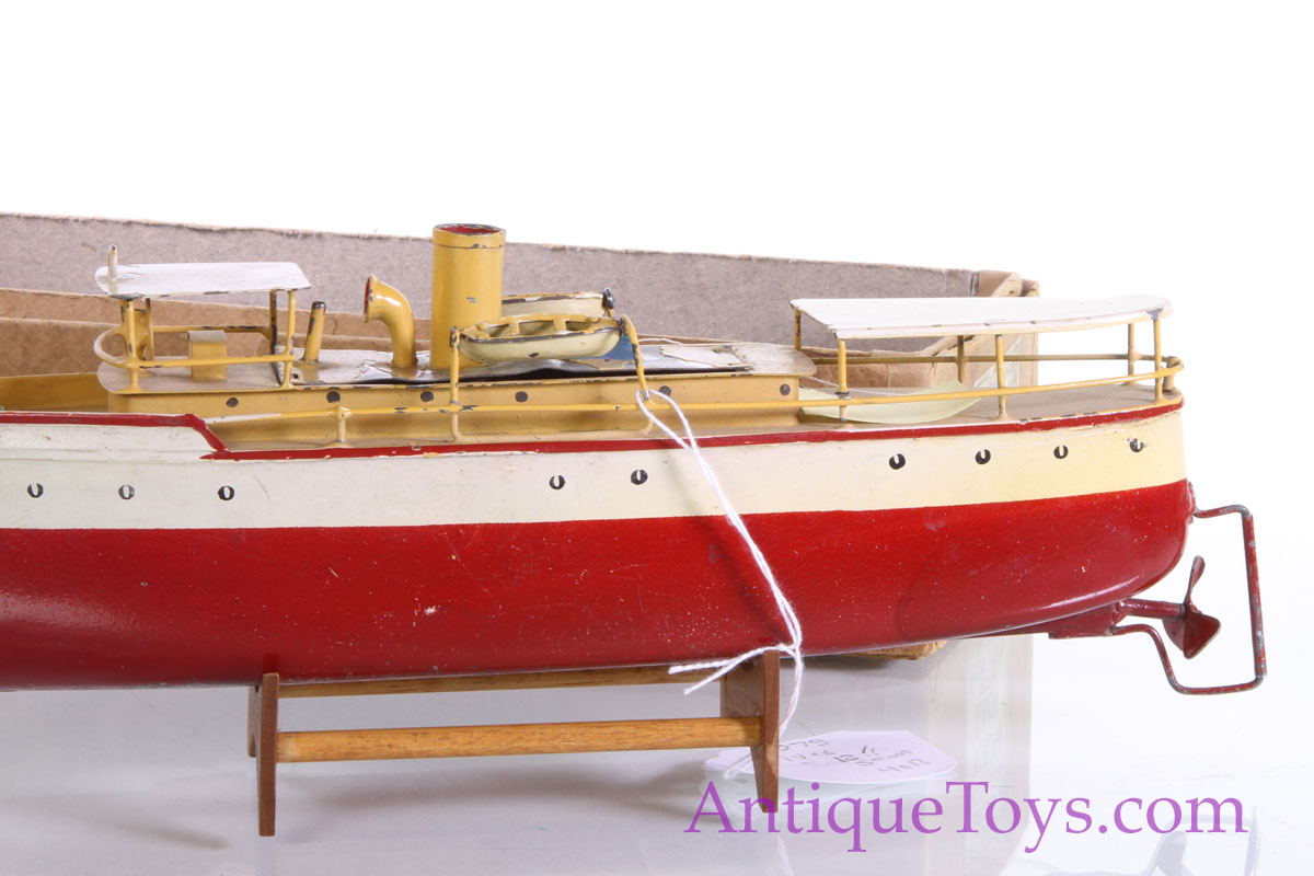 Ives scout patrol boat with box for sale antique toys for Boat mailbox