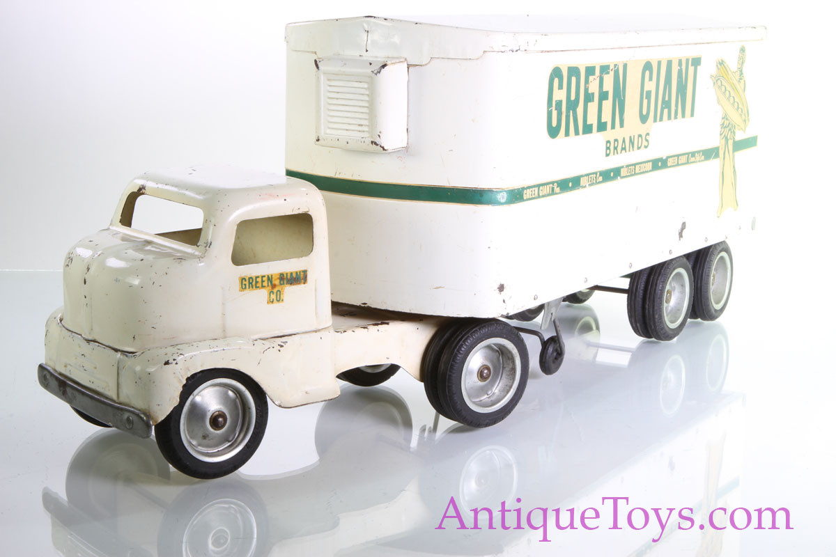 Toys From 1953 : Tonka green giant steel truck toy refer semi