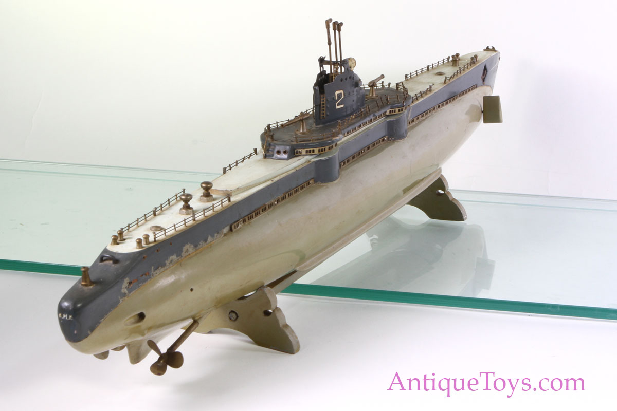 Iron Horse Motorcycles >> U.S. Submarine #2 Motorized wood toy Made in Japan. TMY ...