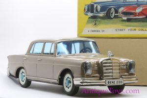 Japanese tin toy car Mercedes by Bandai