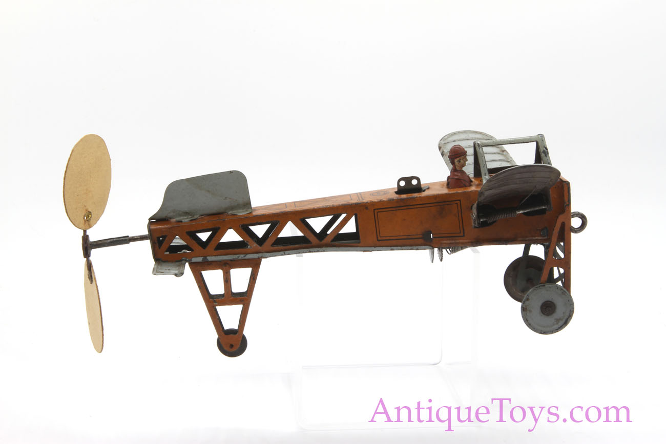 Bl 233 Riot Airplane Tin Windup By Oro Made By Fritz Reil Or