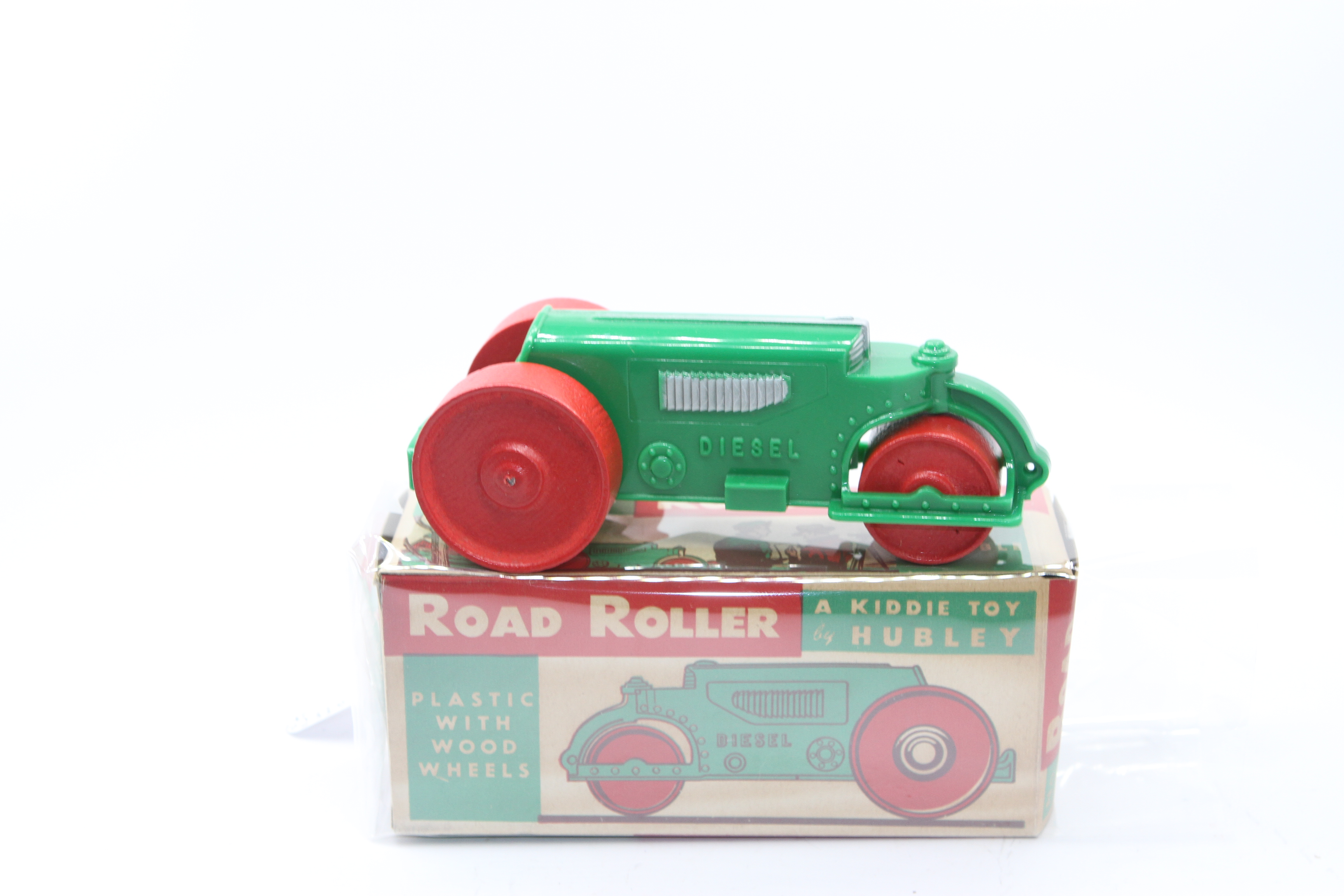 Vintage Hubley Steam Roller Toy With Box For Sale