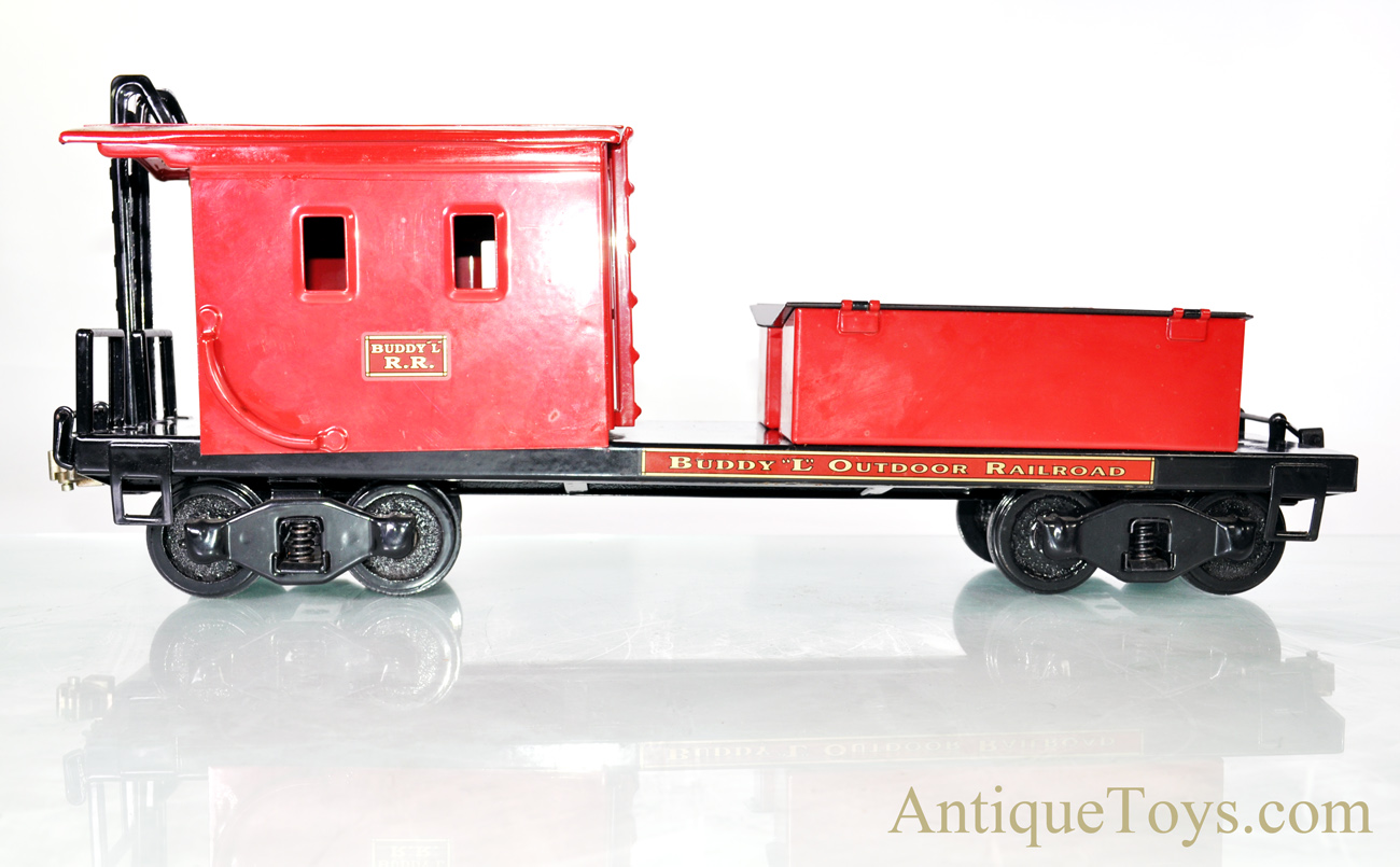 Buddy L Outdoor Railroad Red Caboose T-Reproductions Large Scale Pressed  Steel Train Car