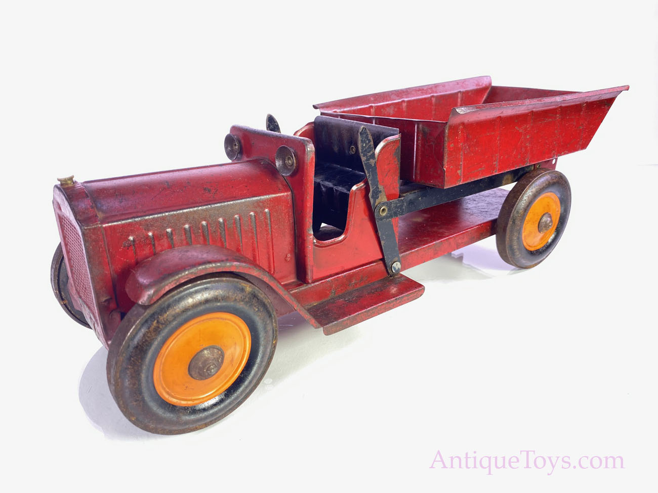 Structo Red Steel Dump Truck for Sale - Antique Toys for Sale